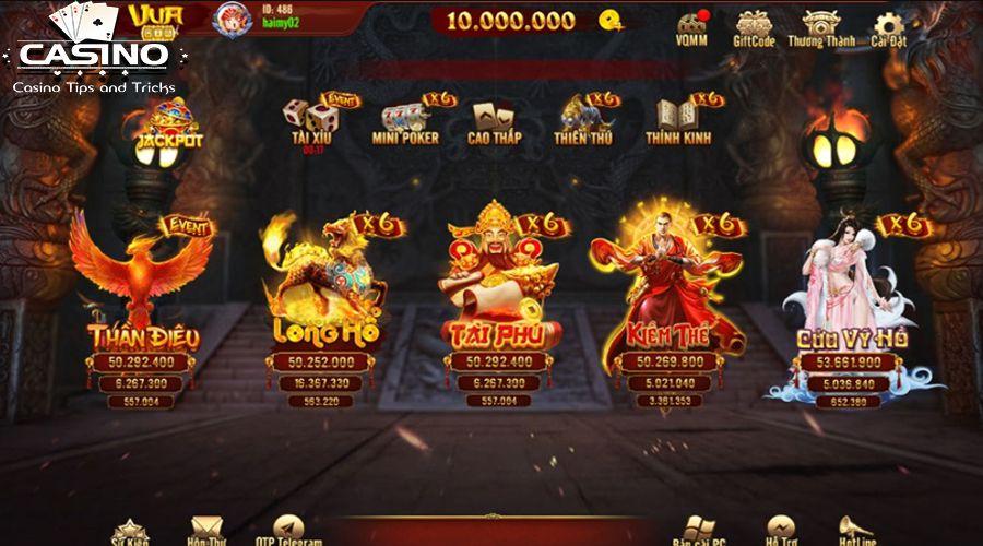 Cổng game vua win có đa dạng các loại game đổi thưởng